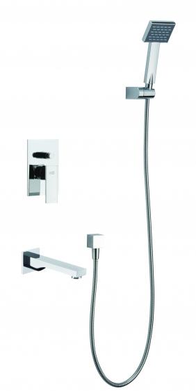Zestaw wannowy podtynkowy z wylewką i prysznicem <br/> TOR-ZWP.200C