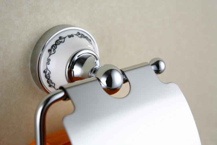 Uchwyt na papier toaletowy z klapką <br/>  NIK-57062