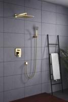 Zestaw prysznicowy podtynkowy z deszczownicą i prysznicem <br/> MON-ZKP.150 kolor ZŁOTY